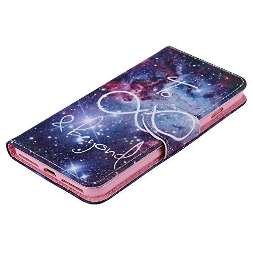 Ooboom® iPhone 8 Plus/iPhone 7 Plus Coque PU Cuir Flip Housse Étui Cover Case Wallet Portefeuille Fonction Support avec Porte-cartes pour iPhone 8 Plus/iPhone 7 Plus - Don't Touch My iPhone Beyond