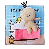 Starter Libro di stoffa di puzzle di istruzione in anticipo del bambino per 0-1-3 anni del giocattolo di enlightenment dei bambini, libro del bagno della Anti-rottura