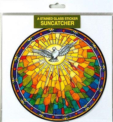 53/10,2cm X 53/10,2cm Suncatcher Tiffany Stil Fenster Aufkleber Holy Spirit