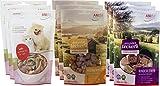 Snack-Mix 3 Pkg Hühnerherzen/3 Pkg Rinderleber/3 Pkg Lammpansen (gefriergetrocknet)