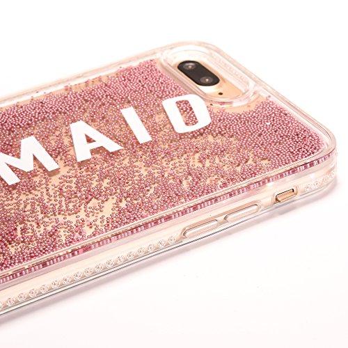 iPhone 6/6S 4.7 Hülle, Voguecase Silikon Schutzhülle / Case / Cover / Hülle / TPU Gel Skin für Apple iPhone 6/6S 4.7(Perlen Treibsand-born to shine-Pink) + Gratis Universal Eingabestift Perlen Treibsand-MERMAID-Pink