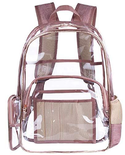 KAIMENG Clear Sac à dos Transparent Sac à dos en PVC Voir à travers le sac d'école Daypack