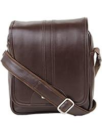 S3 Leather Unisex Sling Bag || Crossbody Bag - Brown Shoulder Bag / Leather Bag For Laptop Bag