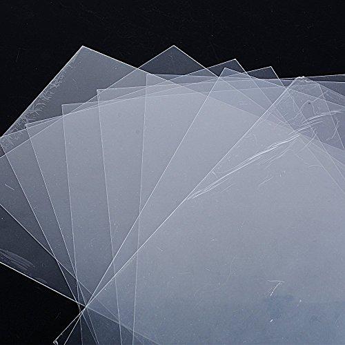 DEOMOR 10 Blatt Schrumpffolie Schrumpffolienplatten Schrumpfende Plastikfolie Schrinkfolien Schrink Plastik Transparent A4 0,3mm dick für Basteln Schlüsselanhänger Schmuckherstellung