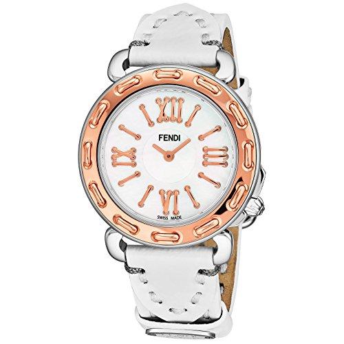 Fendi Women's Selleria 35mm Leather Band Swiss Quartz Watch F8002345H0.PS04