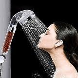 Douche, pomme de douche filtre ionique filtration portatifs évolution progressive angle réglable 7 couleurs succion mural main shower power
