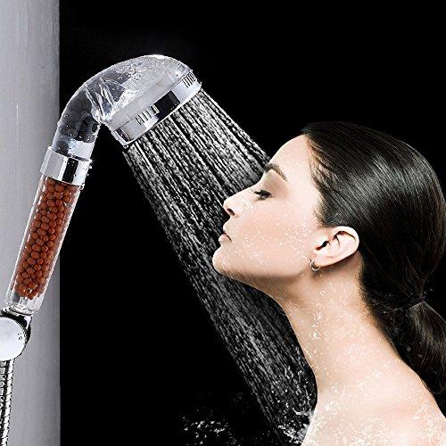 omeny transparente alta presión filtro de mano de ahorro de agua cabeza de ducha