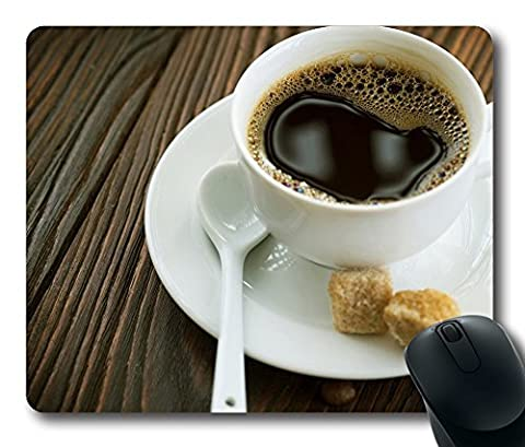 Cup Of Coffee And Sugar Cubes Mouse Pad Oblong Shaped Mouse Mat Design Natural Eco Rubber Durable Computer Desk Stationery Accessories Mouse Pads For Gift