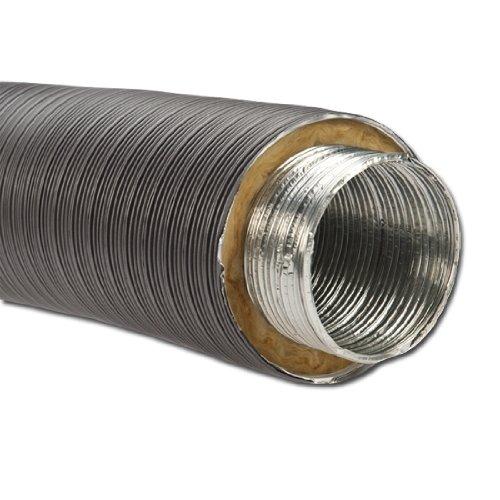 Isoliertes Aluflexrohr Aluflexleitung 800 mm, DN 125 mm, Grau Aluflex
