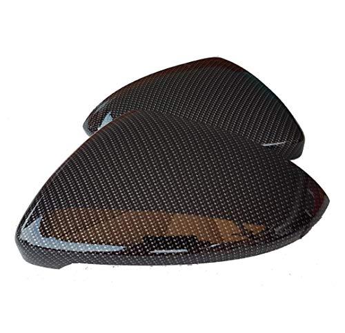 Jeu de capuchons pour miroir droit et gauche aspect carbone compatible avec Golf 7
