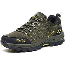 61f2e7eecbe7e NEOKER Scarpe da Trekking Uomo Donna Arrampicata Sportive All aperto  Escursionismo Sneakers Army Green Blu