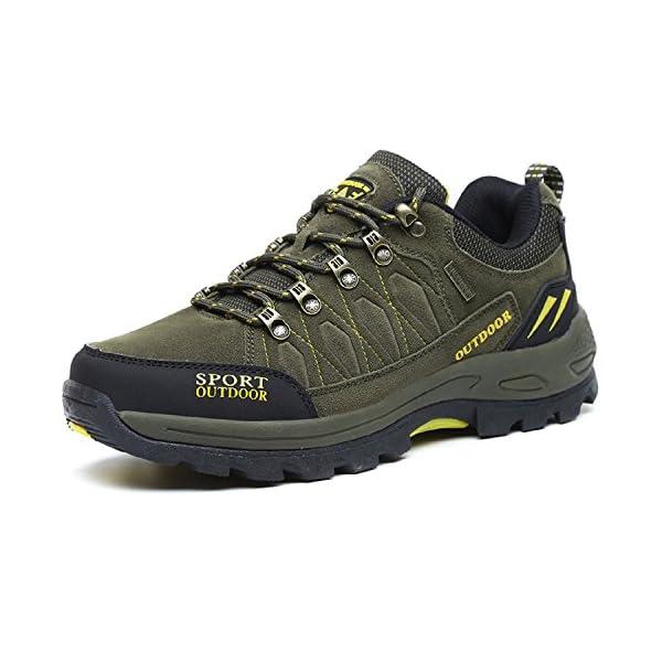NEOKER Scarpe da Trekking Uomo Donna Arrampicata Sportive All aperto  Escursionismo Sneakers Army Green Blu Nero Grigio 36-48 – Acquistare On Line 17fe81482ee