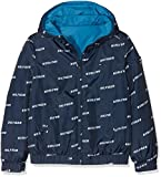 Tommy Hilfiger Jungen Jacke Essential Reversible Hooded Jacket, Blau (Black Iris 002), 152 (Herstellergröße: 12)