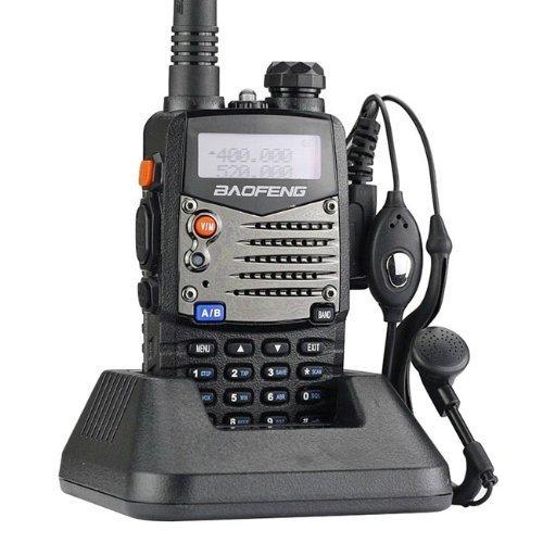 Baofeng UV-5RA Jamón Radio de Dos Vías de Caza, Unisex Adulto, Negro, Talla Única