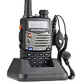 Baofeng Radio Emisor-Receptor UV-5RA 136-174/400-480 MHz Dual-Banda DTMF CTCSS DCS FM 5W Amateur WalkieTalkie Transceptor - 2013 Ultima Version con Caracteristicas Mejoradas (Negro)
