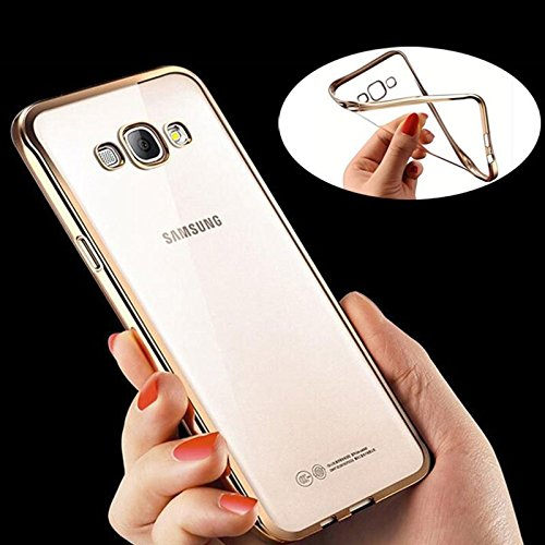 iSAVE New Luxury Gold Plating Origin TPU Soft Silicon Back Cover For SAMSUNG GALAXY J7 - 6 (New 2016 Edition)
