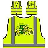 Credit Crunch Mann Kreditkarten Geschenk Personalisierte High Visibility Gelbe Sicherheitsjacke Weste d768v