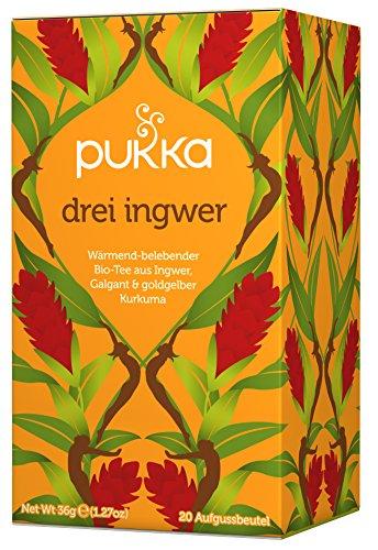 Drei Ingwer PUKKA Tee BIO 4 Packungen à 20 Teebeutel