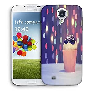 Snoogg Vintage Purple Cupcake Designer Protective Phone Back Case Cover For Samsung Galaxy S4