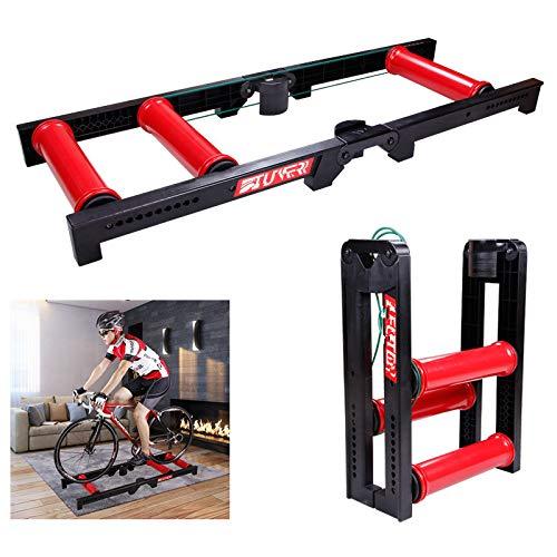 Fahrradtrainer mit Draht-gesteuertem Innenbereich, Mountainbike-Trainingsplattform, Turbo-Trainer, variabler Widerstand, Indoor Bike Trainer für Road & Mountain Fahrräder für Indoor-Fahrräder -