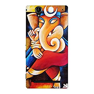 Special Ganesha Abstract Art Back Case Cover for Sony Xperia T2