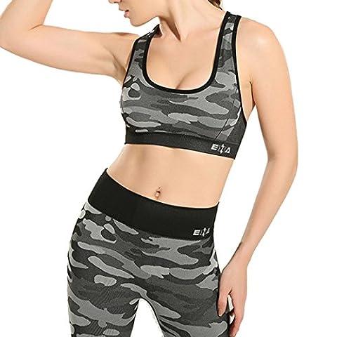 Vertvie Damen 2 Stück Fitnessset Sport Set Outfit Yoga Jogging Outdoor Casual Sportkleidung Sport BH und Leggings Trainingsanzug (S/M,