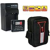 LOOkit Set: LOOKit® Sac Ultima + LOOKit® Premium Batterie BCM13 / 1100mAh + 4in1 Chargeur -- Panasonic LUMIX DMC TZ70 / Panasonic TZ57 / Panasonic TZ71 / Panasonic TZ58 / TZ60, Panasonic LUMIX DMC TZ55. Panasonic LUMIX DMC TZ40, FT5 / ZS30 / TS5