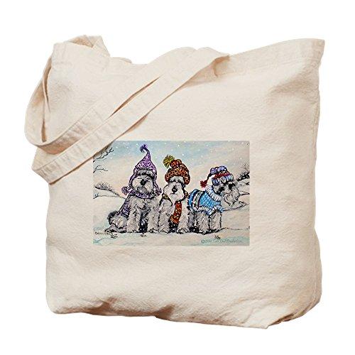 CafePress-Schnauzer Winter Holiday-Leinwand Natur Tasche, Reinigungstuch Einkaufstasche Tote S khaki Holiday Becher
