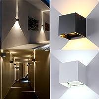 lzndeal Apliques de Pared LED impermeable al aire libre de pared de apliques de pared Lámpara de luz de la pared IP67 cubierta cubo de luz
