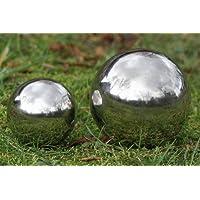 Sfera decorativa, giardino sfera Galaxy in argento in acciaio inox, 1pezzi, diametro ca. 13cm