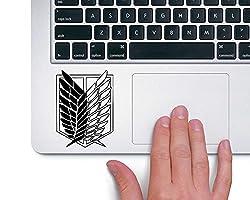 CVANU Attack on Titan Recon Corps Laptop Vinyl Sticker (Black)