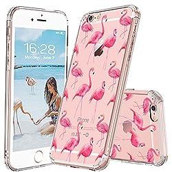 MOSNOVO iPhone 6S Hülle, iPhone 6 Hülle, Tropisch Flamingo Muster TPU Bumper mit Hart Plastik Hülle Durchsichtig Schutzhülle Transparent für iPhone 6 / iPhone 6S (Flamingo)