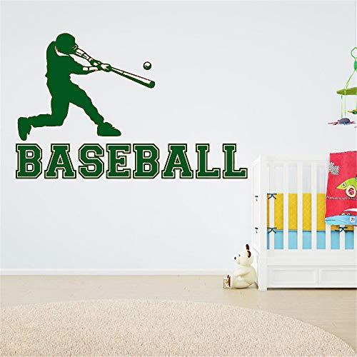 Baseball Player Sport Vinyl Wandaufkleber Applique Kind und Jungen Zimmer Wasserdicht Aufkleber für Innen Neue 91 * 57 cm Prinzessin Baseball
