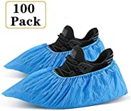 Non-woven Shoe Cover Non Disposable Boot Covers Anti-Slip Resistant Booties Protect From Liquid And Dust Blue
