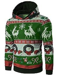 Clearance Sale [M-4XL] ODRD Christmas Hoodie Männer Sweatshirt Herren Dick Warm Outwear Sweatjacke Sweater Parka Cardigan Lässige Mantel Pulli Pullover Jacket Jacke Hooded Party Walking