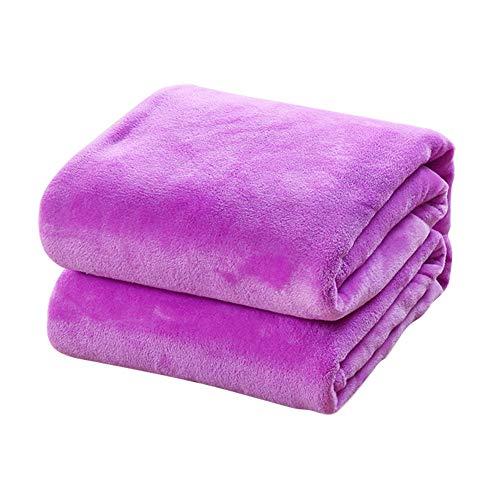 TREESTAR Mantas de bebé para niños otoño e Invierno bebé recién Nacido Copo de Nieve pequeña Manta de Pelo Manta de Siesta Size 100 * 150CM (Purple)