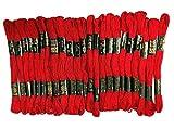 Rangoli - Juego de punto de cruz, 25 piezas, hilo de algodón bordado