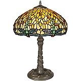 Arte Dal mondo Dragonfly en lámpara de cristal tiffany-style artesanía GD16511