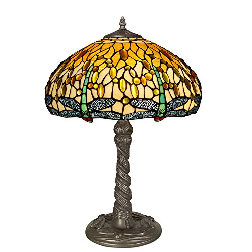 Arte Dal Mondo Tischlampe dragonfly glas im tiffany-stil handwerk GD16511