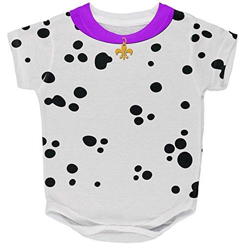 Faschingsdienstag Hund Dalmatiner Kostüm lila Halsband Fleur De Lis aller Baby One Piece Multi 18 (Kostüme Dalmatiner Baby Für)