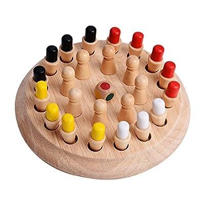Hztyyier Jeu d'échecs, Jeu de bâton en Bois avec mémoire pour Enfants pour Enfants Jeux éducatifs en 3D éducatifs pour Enfants Famille et fête