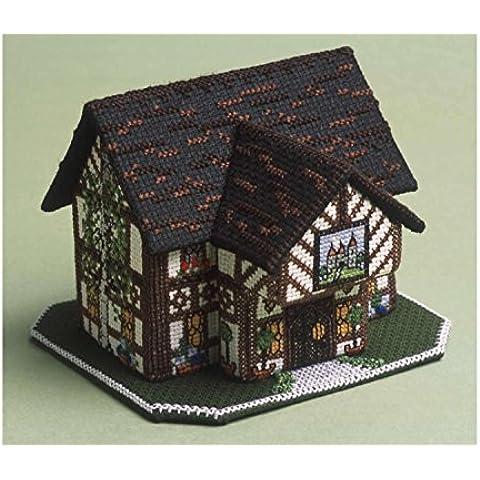 The Nutmeg Company Kit da punto croce 3D, motivo: edificio