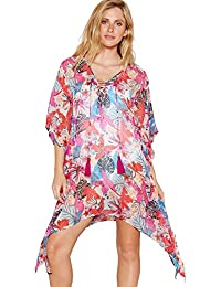 5f7310c024cda Debenhams Beach Collection Multi-Coloured Tropical Floral Print V-Neck Mini  Kaftan