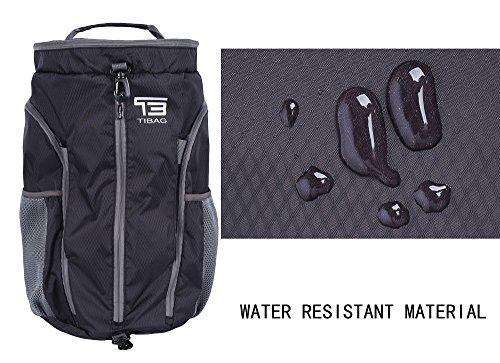 TB 35L/40L faltbar leicht Duffle Daypack Wasserdichte Reise Sport Rucksäcke Gym Bag Schwarz