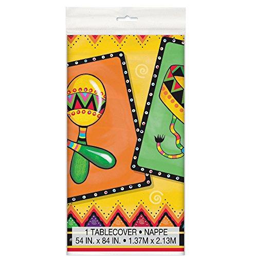 Kunststoff mexikanischen Party Tischdecke, 137 x 213 cm