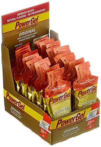PowerBar Power Gel Original mit Kohlenhydraten, Maltodextrin & Natrium – Energie Gels – Vegan – Tropical Fruit (24 x 41g)