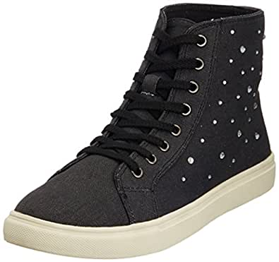 Carlton London Women's Jayleen Black Sneakers - 6 UK  (CLL-2957)