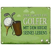 Metallschild Mit Spruch: Hier Wohnt Ein Golfer   Mit Dem Birdie Seines  Lebens   Ein Cooles Metallschild Von Trendaffe   Passende Weitere Begriffe  Dazu: ...