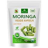 Moringa 120 Oleifera Veggie Capsule alto dosaggio 600mg – 100% cibi crudi vegan (1x120 capsules)