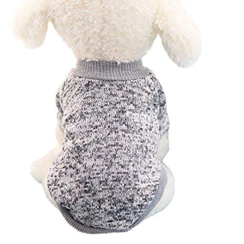 Haustierkleidung,Haustier Hund Katze Classic Sweater Pullover Kleidung Warm Sweater Winter (Grau, S) (Damen-pullover Reversible)